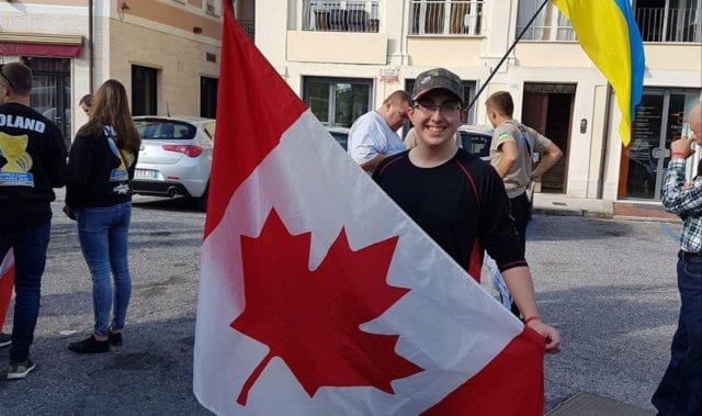 nik represents canada at the world carp classic junior event