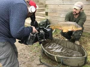 production shot of will with carp