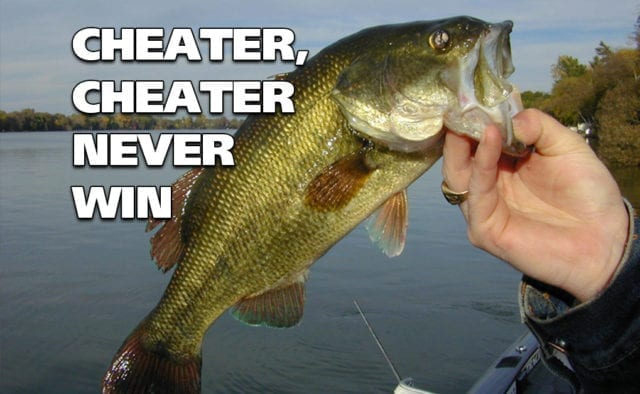 Bass anglers cheating