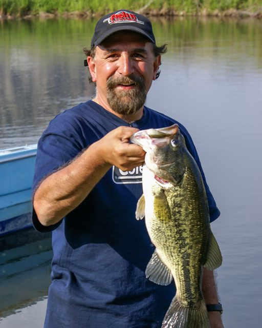 Angelo Viola with a British Columbia bass.