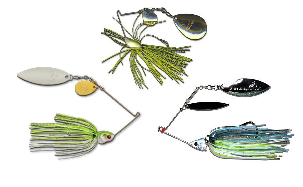 Spinnerbaits on a white background