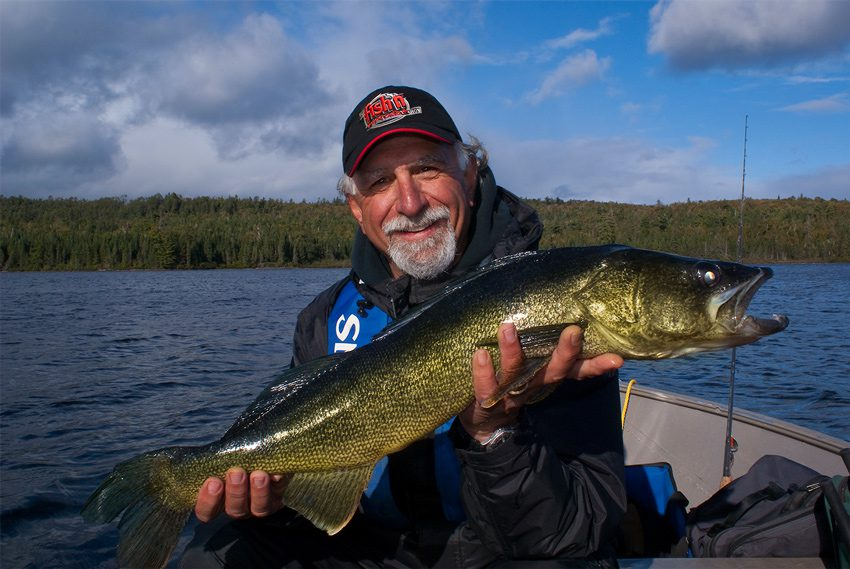 Angelo Viola with walleye